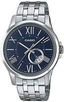 Casio Men's Dial Stainless Steel Dress Watch w/ Roman Numerals MTP-E105D-2AVDF