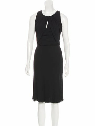 Versace Sleeveless Midi Dress w/ Tags Black