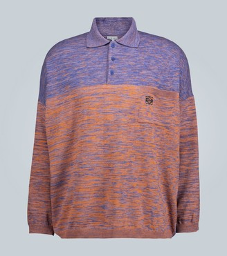 Loewe Knitted colorblocked polo shirt