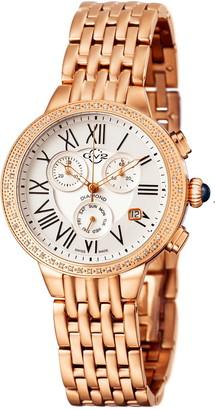 Gevril Women's Astor Chronograph Diamond Bracelet Watch, 40mm - 0.227 ctw