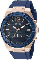 GUESS GUESS? Women's CONNECT Smartwatch with Amazon Alexa and Silicone Strap Buckle - iOS and Android Compatible - Blue
