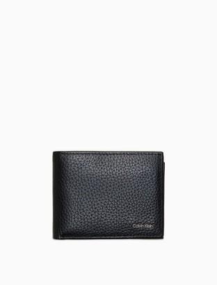 Calvin Klein Pebble Leather Aviator Wallet