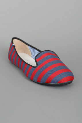 Charles Philip Striped Smoking Shoe