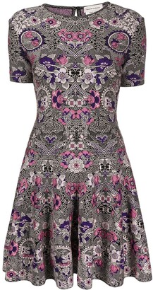 Alexander McQueen Art Nouveau jacquard mini dress