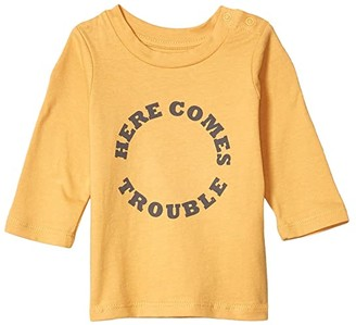 Cotton On Jamie Long Sleeve Tee (Infant/Toddler) (Vintage Honey/Here Comes Trouble) Kid's Clothing