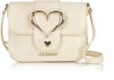 Love Moschino Eco Leather Crossbody Bag w/Heart Buckle