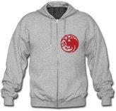 ARGabriel Dragon of Game of Thrones Custom Men's Hoody Zip Hoodie Sweatshirt Jacket