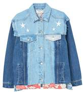Mango Outlet Embroidered denim jacket