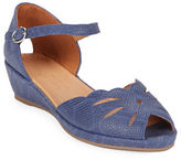 Gentle Souls Lily Moon Peep Toe Wedge Sandals