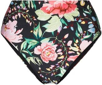Zimmermann Bellitude floral high-waisted bikini bottoms