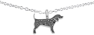Sterling Silver Diamond Reversible Animal Pendant w/ Chain