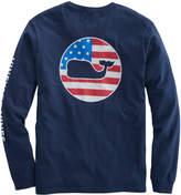 Vineyard Vines Long-Sleeve American Flag Whale Dot T-Shirt