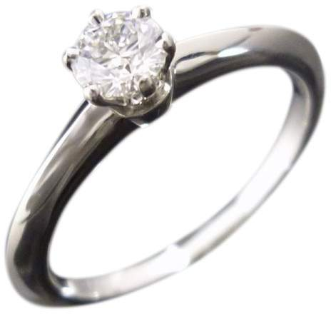Tiffany & Co. 950 Platinum & 0.25ct Diamond Engagement Ring Size 5.75