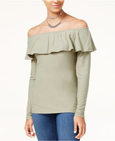 Ultra Flirt Juniors' Marilyn Off-The-Shoulder Top
