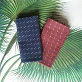 Nori Sun London Embroidered Japanese Woven Cotton Pocket Square