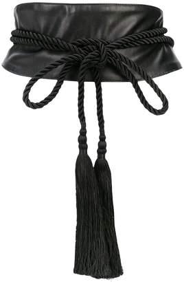 Josie Natori tassel-embellished waist belt
