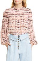 Ulla Johnson Mari Tie Dye Silk Blouse
