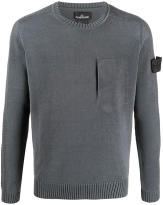 Stone Island Shadow Project Contrasting Side Panel Jumper