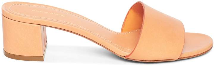 Mansur Gavriel Vegetable Tanned 40mm Single Strap Sandal - Cammello