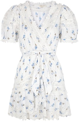 LoveShackFancy Belen floral-print broderie anglaise mini dress