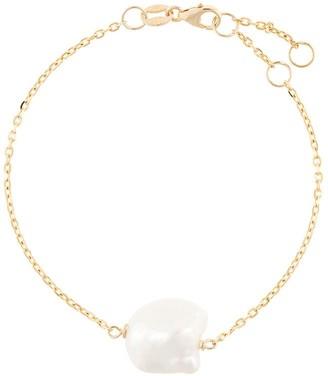 NATASHA SCHWEITZER 9kt yellow gold Baroque pearl bracelet