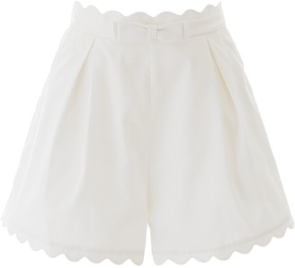 Zimmermann High Waist Scalloped Shorts
