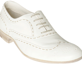 white nappa leather wingtip oxfords