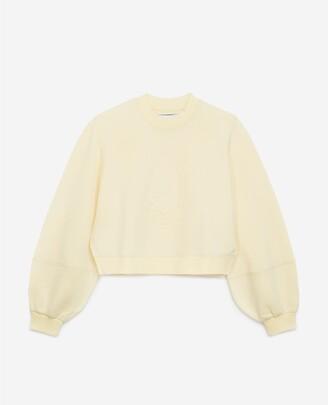 The Kooples Light yellow sweatshirt with embossed logo