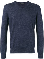Ermenegildo Zegna v-neck slub knit sweater - men - Silk/Linen/Flax/Cashmere - 48