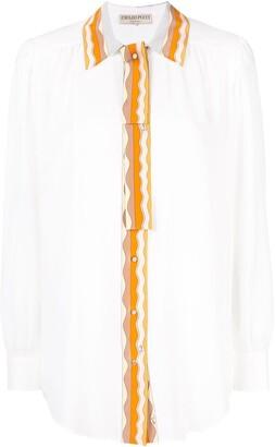 Emilio Pucci Embellished Trim Shirt