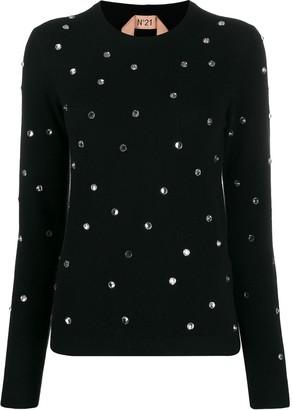 No.21 crystal embellished jumper