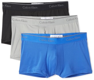 Calvin Klein Underwear 3 Pack Microfiber Low Rise Trunks
