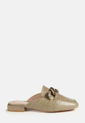 Missguided Chain Front Flat Mules