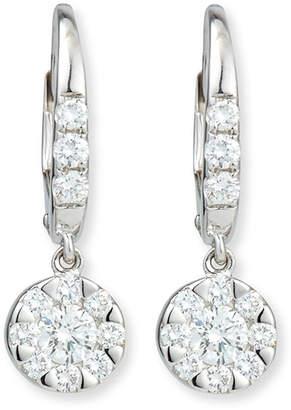 Rina Limor Fine Jewelry Flower Diamond Dangle Earrings