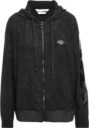 DKNY Appliqued Scuba Hooded Track Jacket
