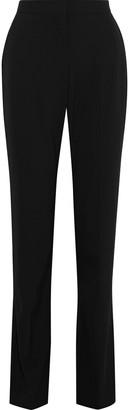 Stella McCartney Slit-front Stretch-twill Straight-leg Pants