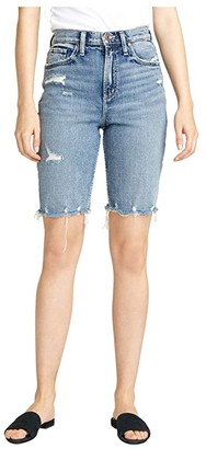 Silver Jeans Co. Frisco High-Rise Knee Shorts L54608RCS239 (Indigo) Women's Shorts