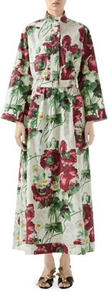 Gucci Deep Love Floral Cotton Poplin Shirtdress