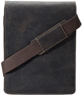 Visconti Brown Leather Tablet Messenger Bag