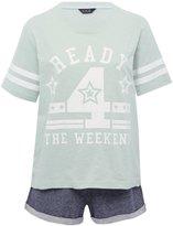 M&Co Ready 4 the weekend slogan pyjamas
