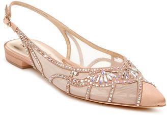 Hanna Shimmery Slingback Ballerina Flats