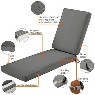 """Freeport Park Searcy Outdoor Chaise Lounge Cushion Fabric: Charcoal Gray, Size: 3"""" H x 21"""" W x 72"""" D"""