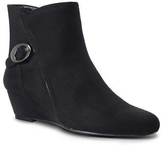 Impo Buckle Wedge Bootie