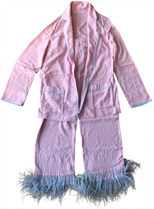 Sleeper Pink Viscose Jumpsuits