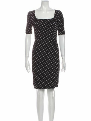 Dolce & Gabbana Printed Mini Dress Black