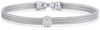 Alor Diamond Gray Cable Bangle