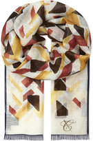 Canali Abstract Cotton-blend Scarf