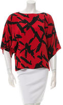 Michael Kors Printed Oversize Top