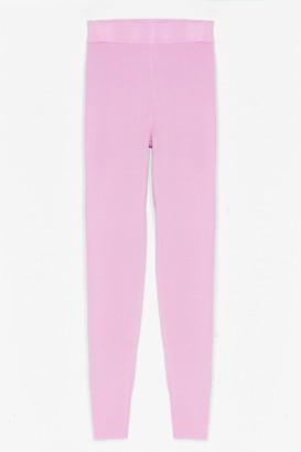 Nasty Gal Womens Time for You Knitted Lounge Leggings - Pink