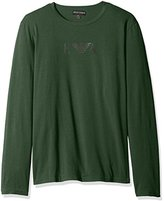 Emporio Armani Men's Stretch Cotton Logo Long Sleeve T-Shirt